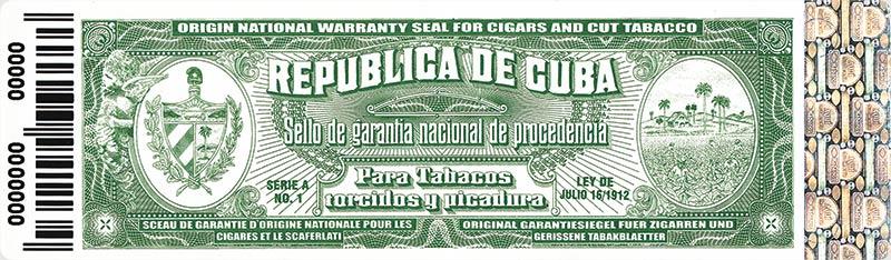 Sceau de garantie de Cuba
